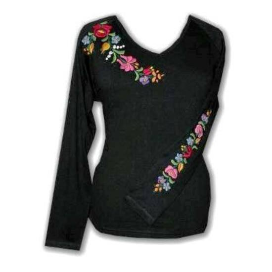 Hosszú ujjú női póló /fekete