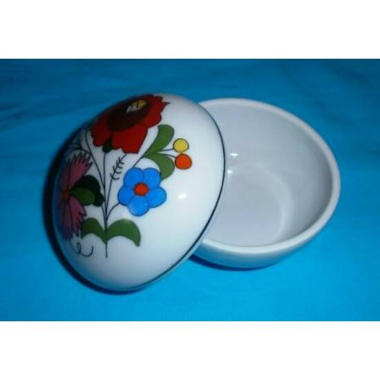 Porcelán kis kerek bonbon tartó