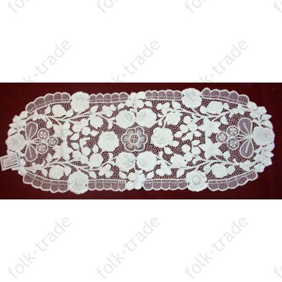 85x35-ös fehér riselis terítő