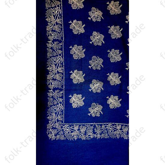 Bördűrös kékfestő abrosz 200x150