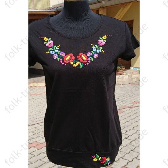 fekete lezser fazonú női póló /M