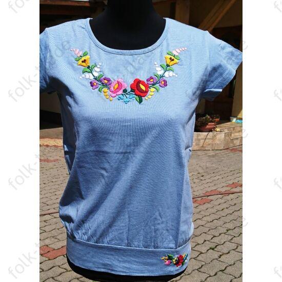 Világoskék lezser női póló