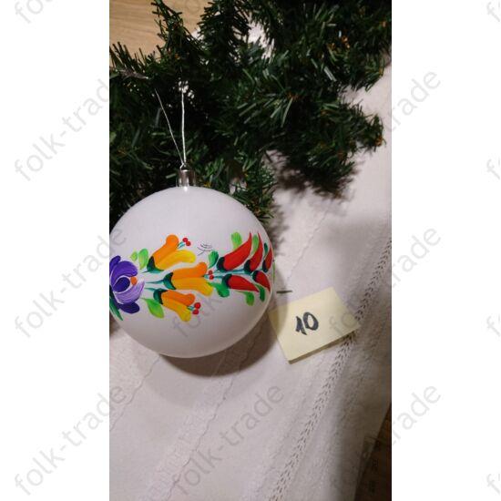 10 cm-es fehér karácsonyfa dísz