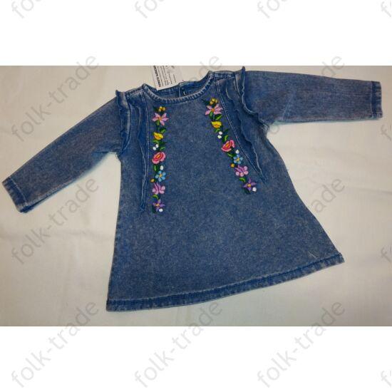 Farmer hatású pamut csini ruha 62-es méretű babának