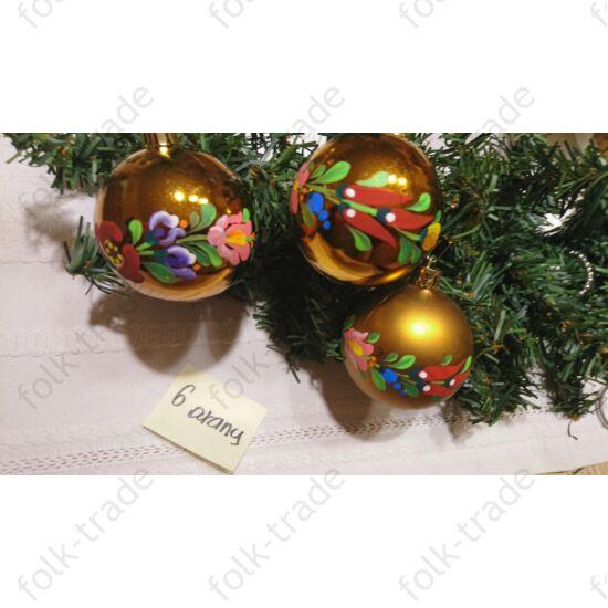 6 cm-es kézzel festett gömb karácsonyfa dísz