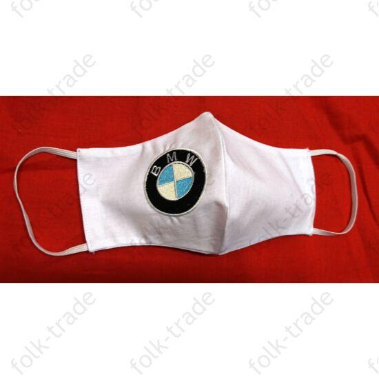 Hímzett maszk /BMW fehér