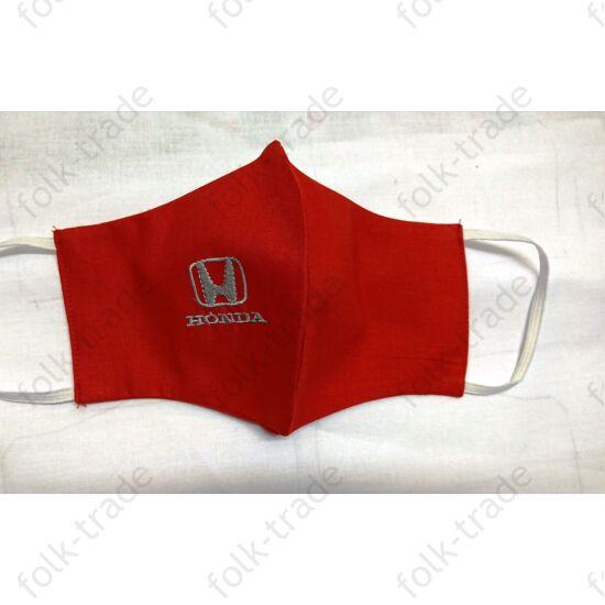 Hímzett maszk /Honda -piros
