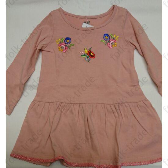 Rózsaszín pamut kislány ruha /74