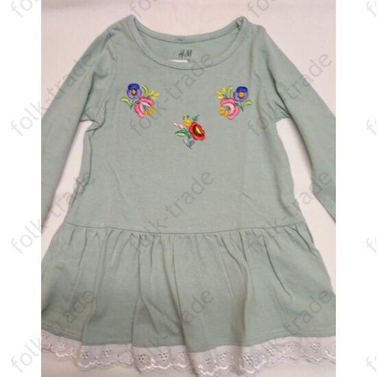 Zöld pamut kislány ruha /74
