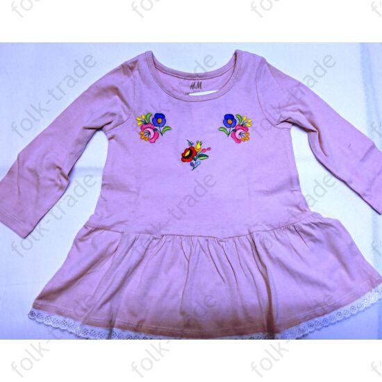 Világos rózsaszín pamut ruha /74