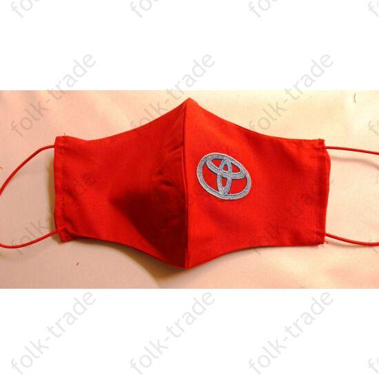 Hímzett maszk /toyota piros