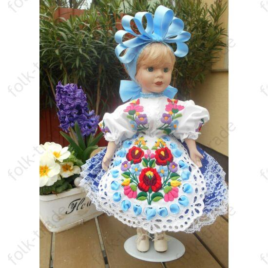 Kalocsai ruhás porcelánbaba
