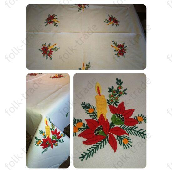 Kézzel hímzett karácsonyi abrosz  220x140