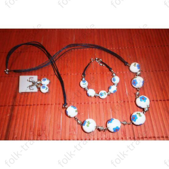porcelán ékszer,fülbevaló-karkötő-nyaklánc