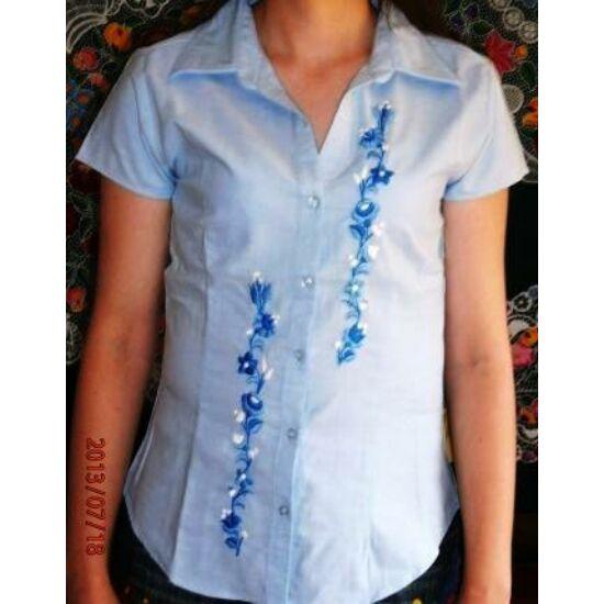 Rövid ujjú női ing /kék