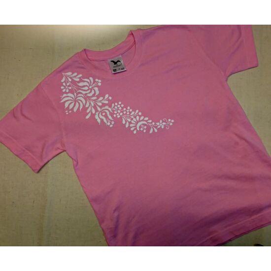 Rövid ujjú kislány póló / rózsaszín