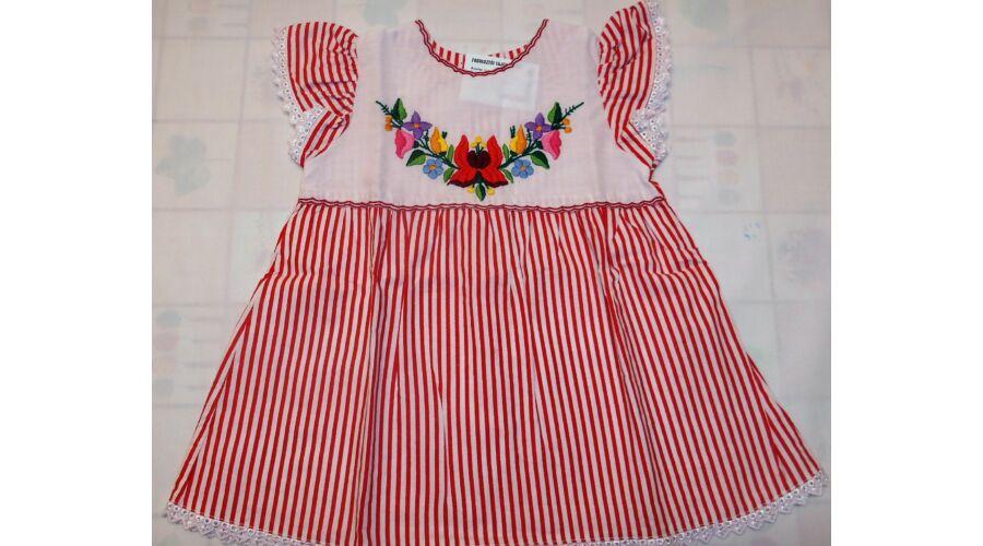 1796d04535 Fodros ujjú kislány ruha - Hímzett gyermekruhák