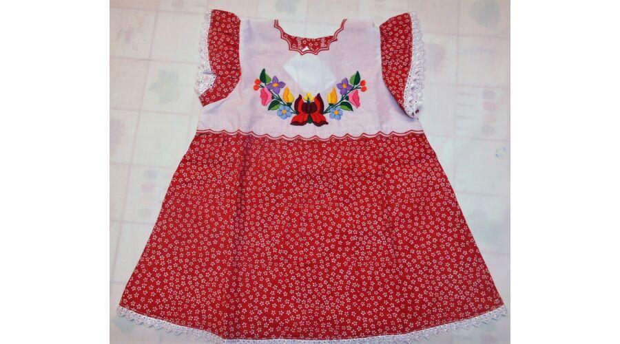f7fad9c35f Kislány ruha ,fodros - Hímzett gyermekruhák